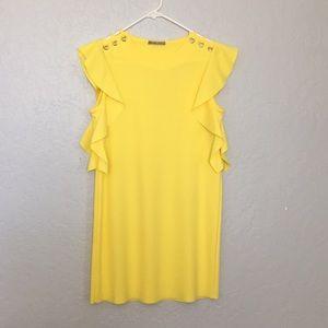 Zara Yellow Mini Dress Size S
